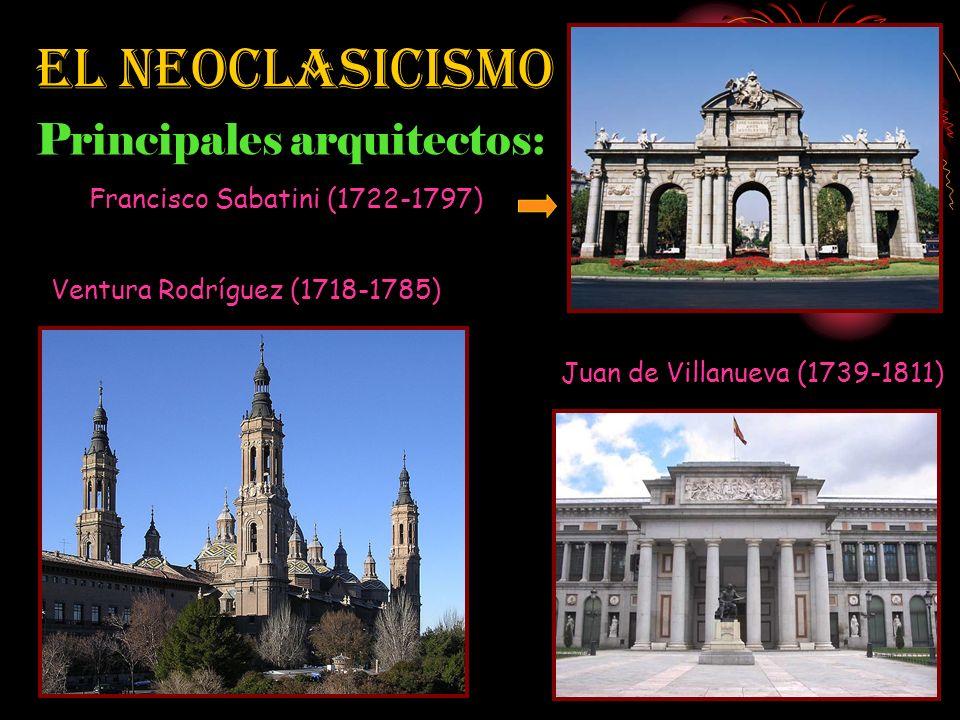 El Neoclasicismo Características: Se inspira en los monumentos de la antigüedad grecorromana. Concepto de belleza basado en la pureza de las líneas ar