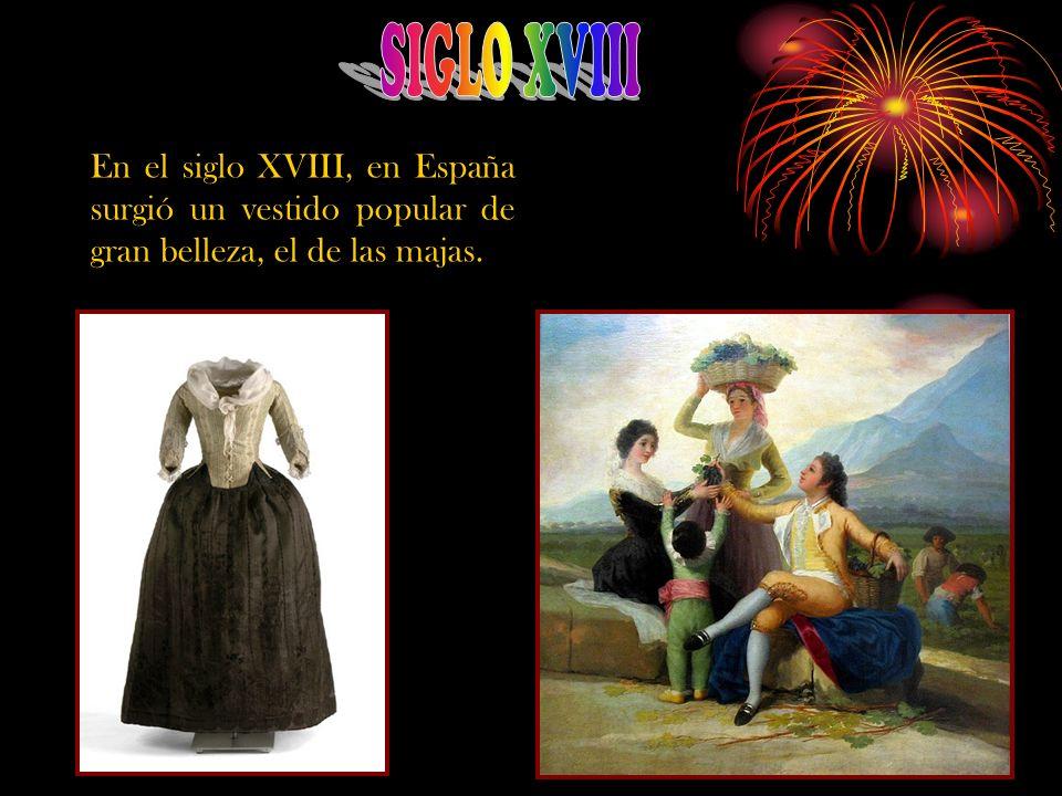 Aquí se aprecian distintos tipos de trajes y complementos tanto masculinos como femeninos que reflejan las distintas clases sociales que había en esta