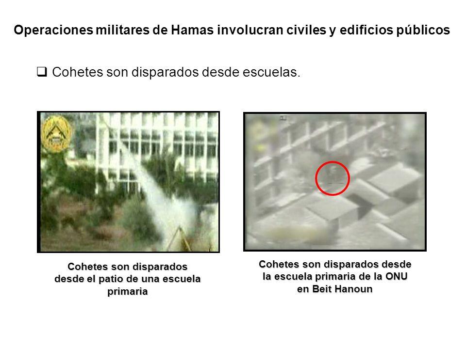 Los cohetes son muchas veces realizados en residencias civiles y guardados debajo de las mismas.