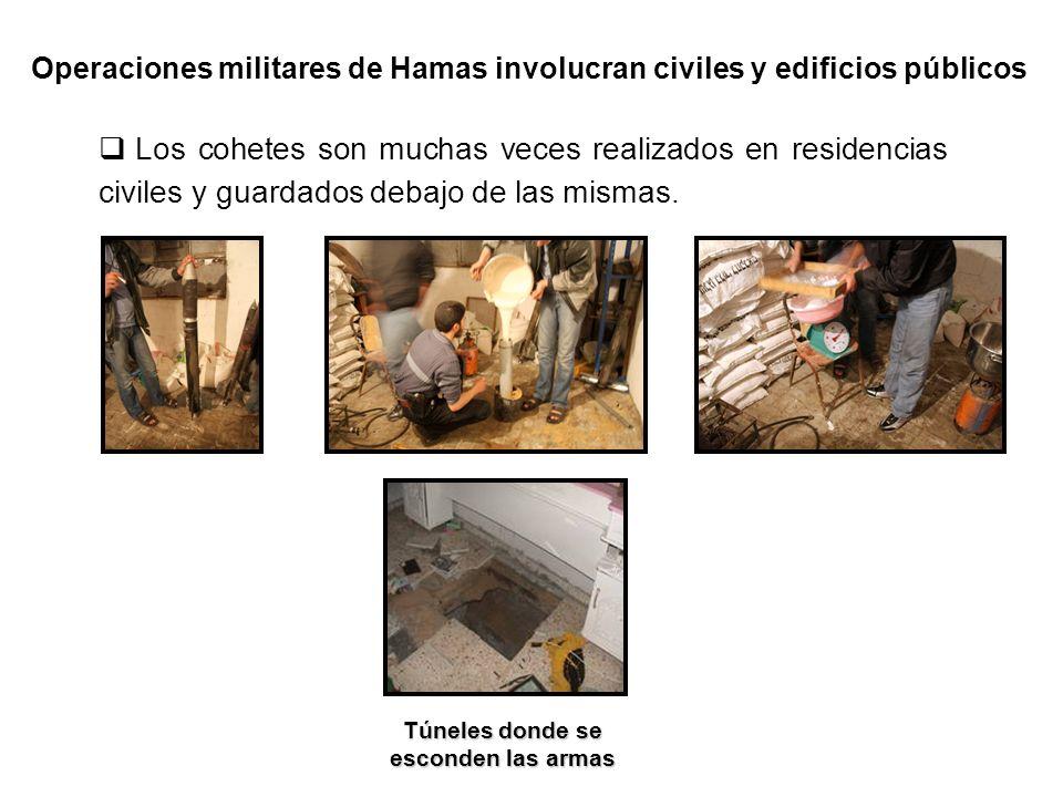 Militantes de Hamas disparando desde una ambulancia de las Naciones Unidas.