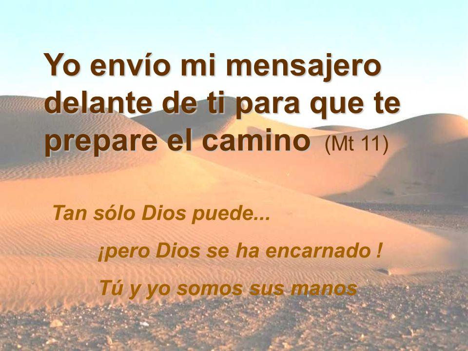 Yo envío mi mensajero delante de ti para que te prepare el camino (Mt 11) Tan sólo Dios puede...