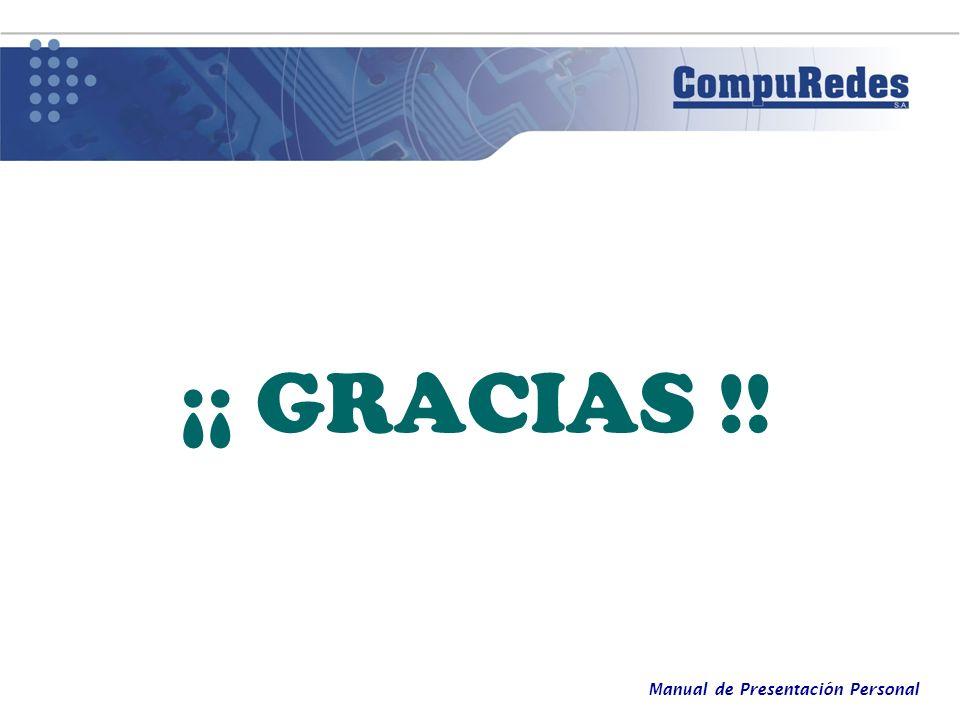 Manual de Presentación Personal ¡¡ GRACIAS !!