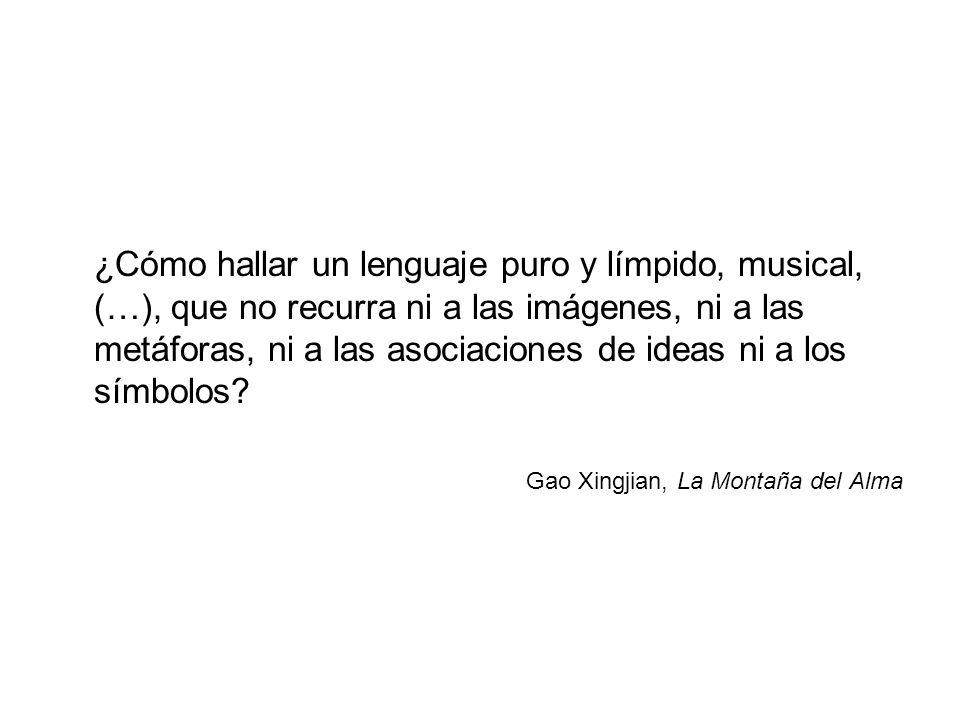¿Cómo hallar un lenguaje puro y límpido, musical, (…), que no recurra ni a las imágenes, ni a las metáforas, ni a las asociaciones de ideas ni a los s