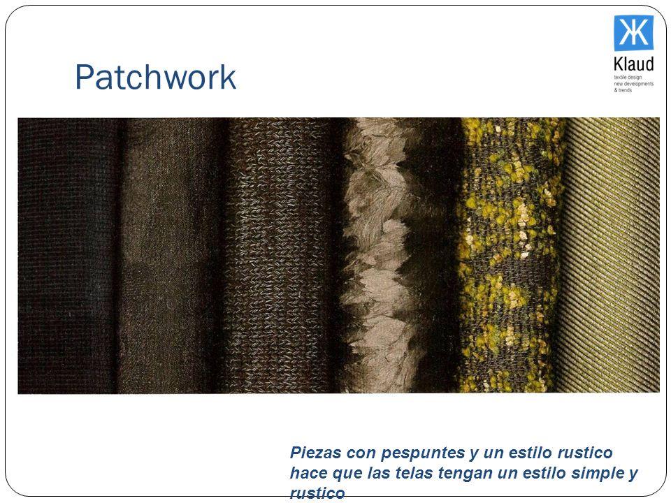 Patchwork Piezas con pespuntes y un estilo rustico hace que las telas tengan un estilo simple y rustico