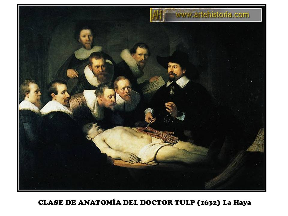 CLASE DE ANATOMÍA DEL DOCTOR TULP (1632) La Haya