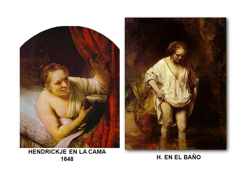 HENDRICKJE EN LA CAMA 1648 H. EN EL BAÑO