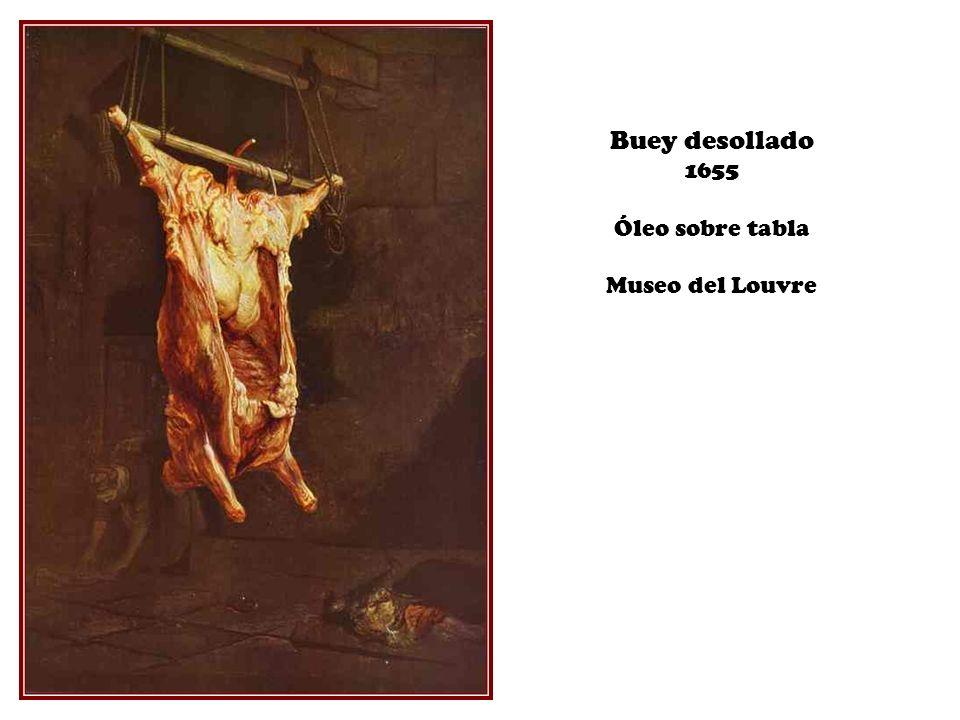 Buey desollado 1655 Óleo sobre tabla Museo del Louvre