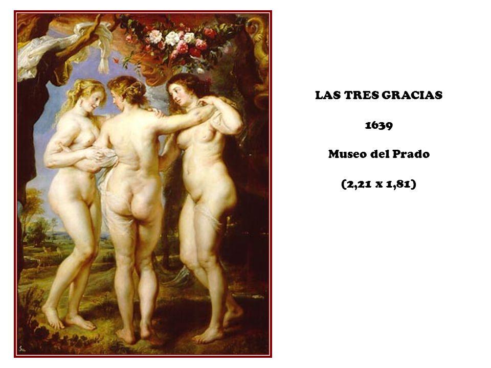 LAS TRES GRACIAS 1639 Museo del Prado (2,21 x 1,81)