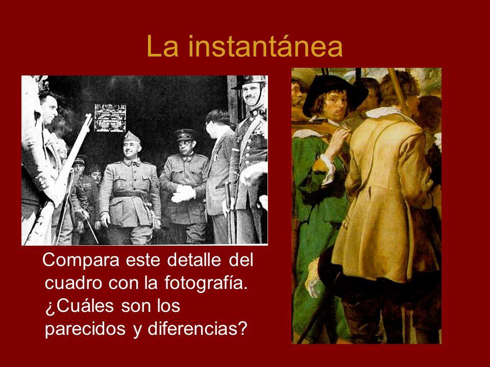 La instantánea Compara este detalle del cuadro con la fotografía. ¿Cuáles son los parecidos y diferencias?