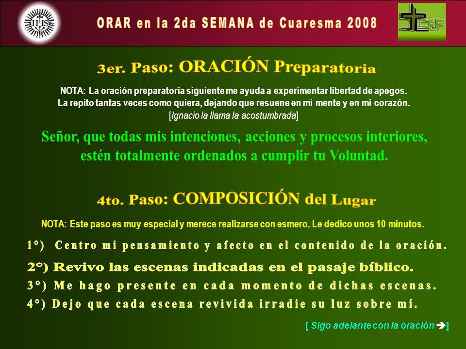 NOTA: La oración preparatoria siguiente me ayuda a experimentar libertad de apegos. La repito tantas veces como quiera, dejando que resuene en mi ment