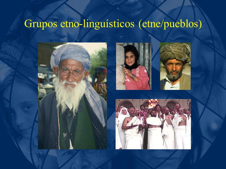 Grupos etno-linguísticos (etne/pueblos)