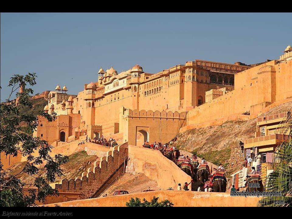 Jaipur. El Jal Mahal (palacio del agua) parece flotar sobre el agua, cuando el monzón llena el lago Man Sagar. Era utilizado como pabellón de caza por