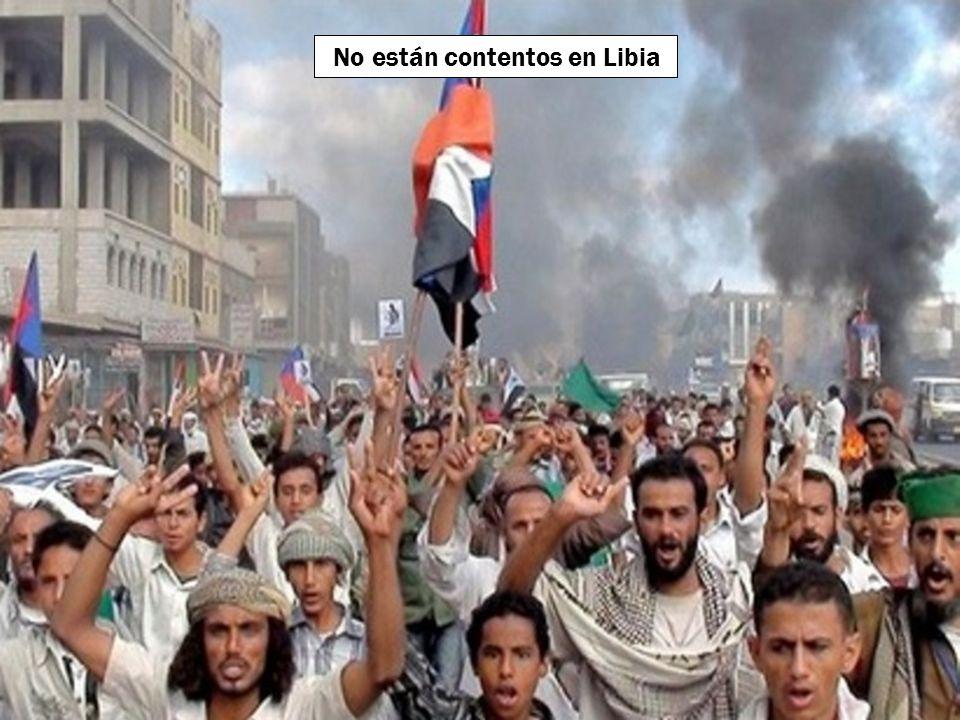 No están contentos en Libia
