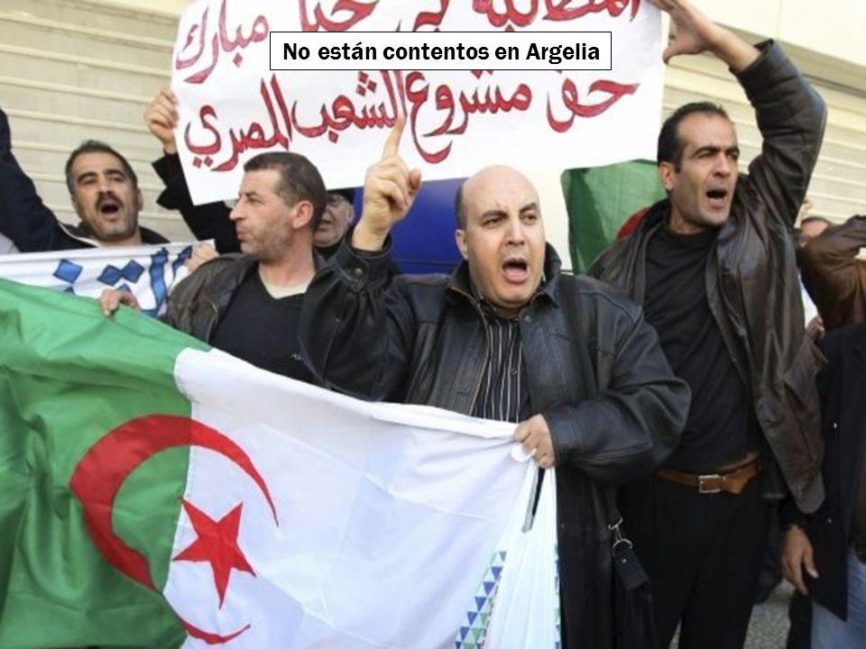 No están contentos en Argelia
