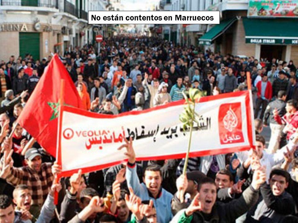 No están contentos en Marruecos
