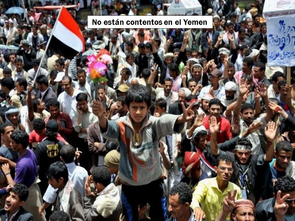 No están contentos en el Yemen