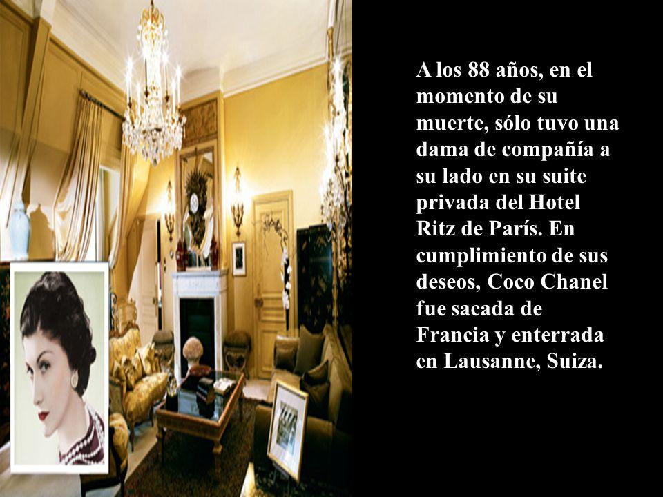Coco Chanel lo tenía todo, fama, dinero, adulación, bienestar, el amor de sus admiradores y de los ricos y famosos.