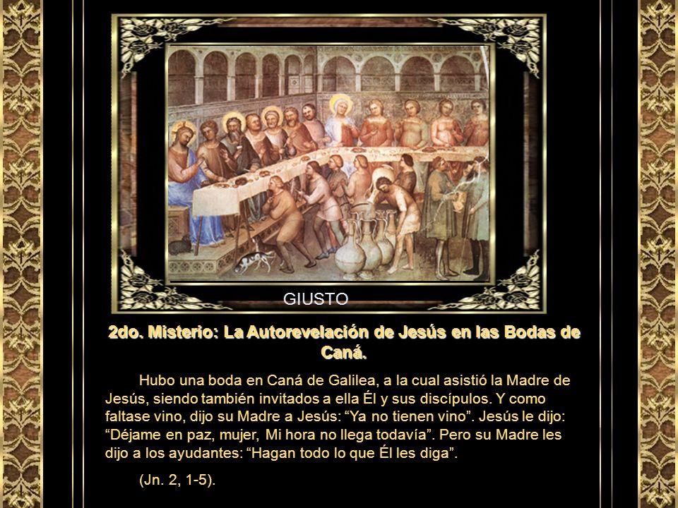 GRECO 1er Misterio: El Bautismo de Jesús en el Jordán. Vino entonces Jesús de Galilea al Jordán a ver a Juan para que éste lo bautizara… Luego que Jes