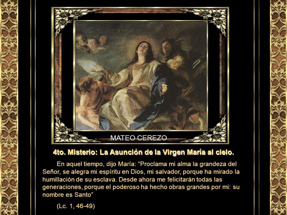 GIOTTO 3er Misterio: La venida del Espíritu Santo sobre los apóstoles. Los once apóstoles se dedicaban a la oración en común, junto con algunas mujere