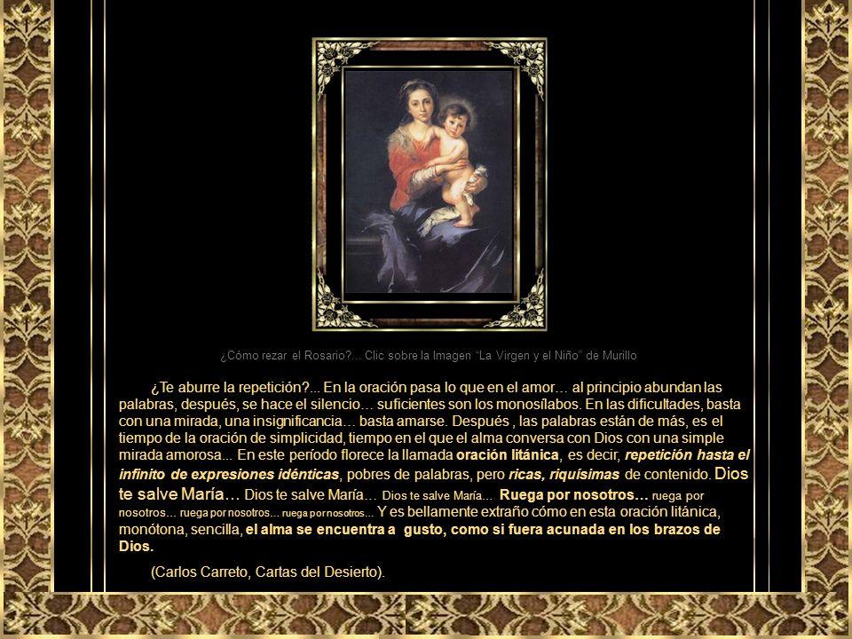 VELÁZQUEZ 5to. Misterio: La coronación de la Santísima Virgen María como Reina del cielo y de la tierra. Se abrió en el cielo el santuario de Dios y e