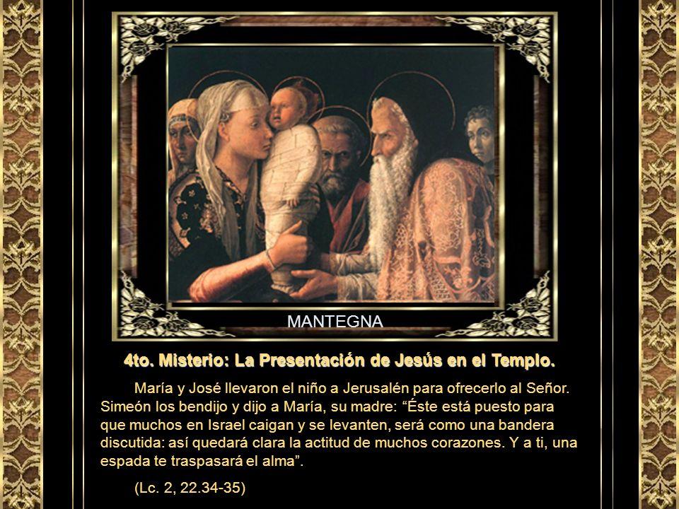 GIOTTO 3er. Misterio: El Nacimiento de Jesús en Belén. Mientras María y José se encontraban en Belén, le llegó a ella el tiempo del parto y dio luz a