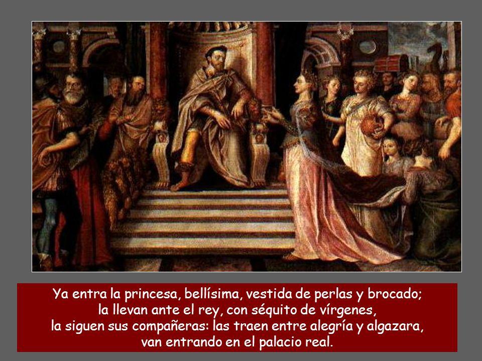 Escucha, hija, mira: inclina el oído, olvida tu pueblo y la casa paterna; prendado está el rey de tu belleza: póstrate ante él, que él es tu señor. La