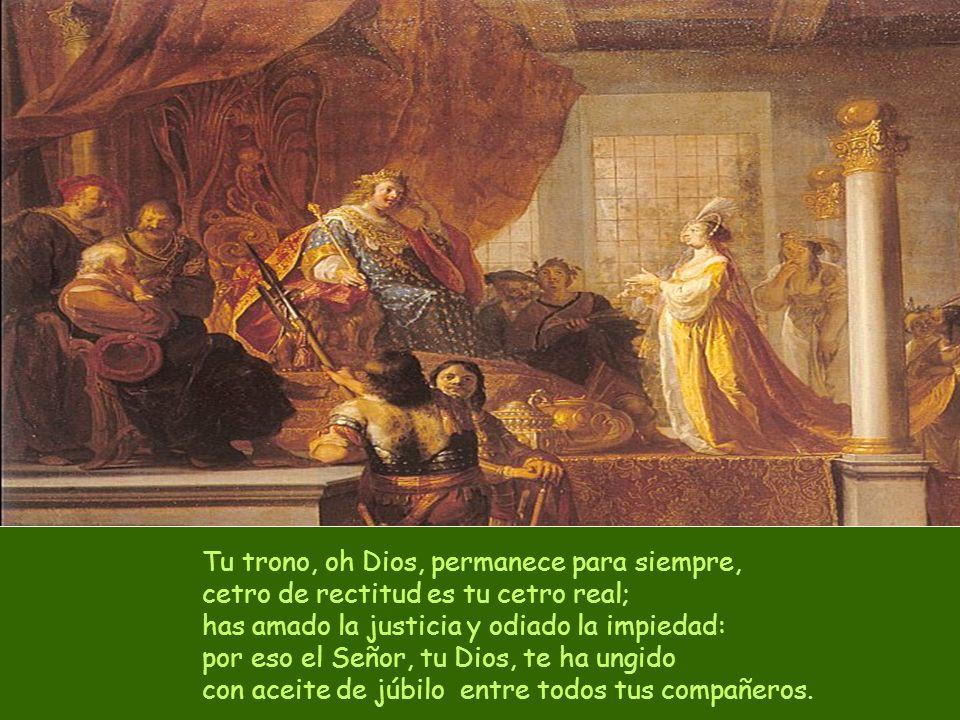 Cíñete al flanco la espada, valiente: es tu gala y tu orgullo; cabalga victorioso por la verdad y la justicia, tu diestra te enseñe a realizar proezas