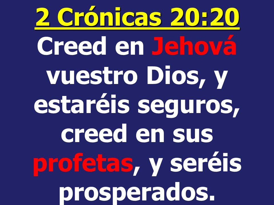 ¿Entonces, en quién creeremos? ¿Creeremos en los falsos profetas del mundo secular, o en los profetas de Dios?