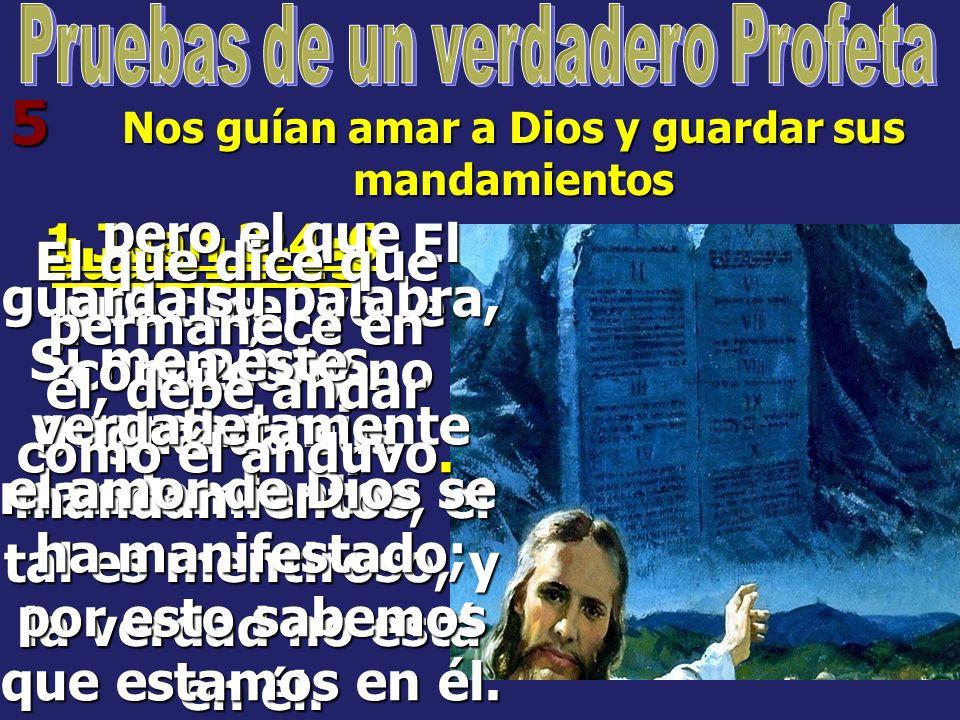 4 Declara lo que Dios le inspira y no habla de sí mismo Jeremías 14:14 Me dijo entonces Jehová: Falsamente profetizan los profetas en mi nombre; no lo