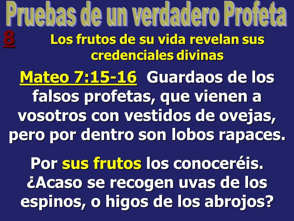 7 Dice que Jesús es el centro de la Fe 1 Juan 4:1-3 Amados, no creáis a todo espíritu, sino probad a los espíritus si son de Dios; porque muchos falsos profetas han salido por el mundo.