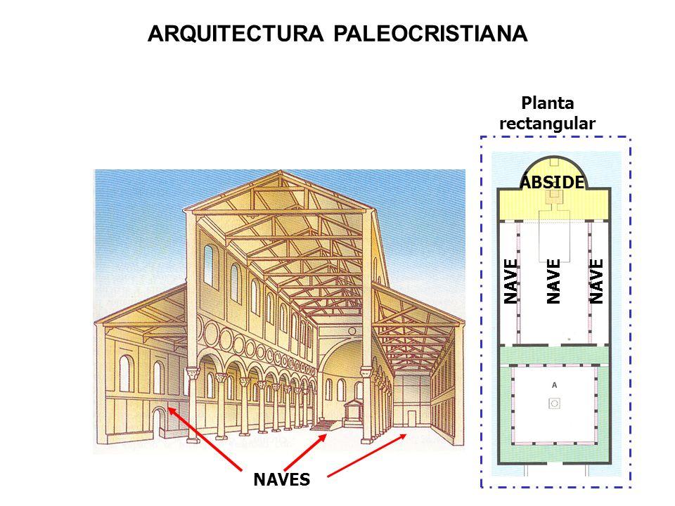 NAVE ÁBSIDE NAVES Planta rectangular ARQUITECTURA PALEOCRISTIANA