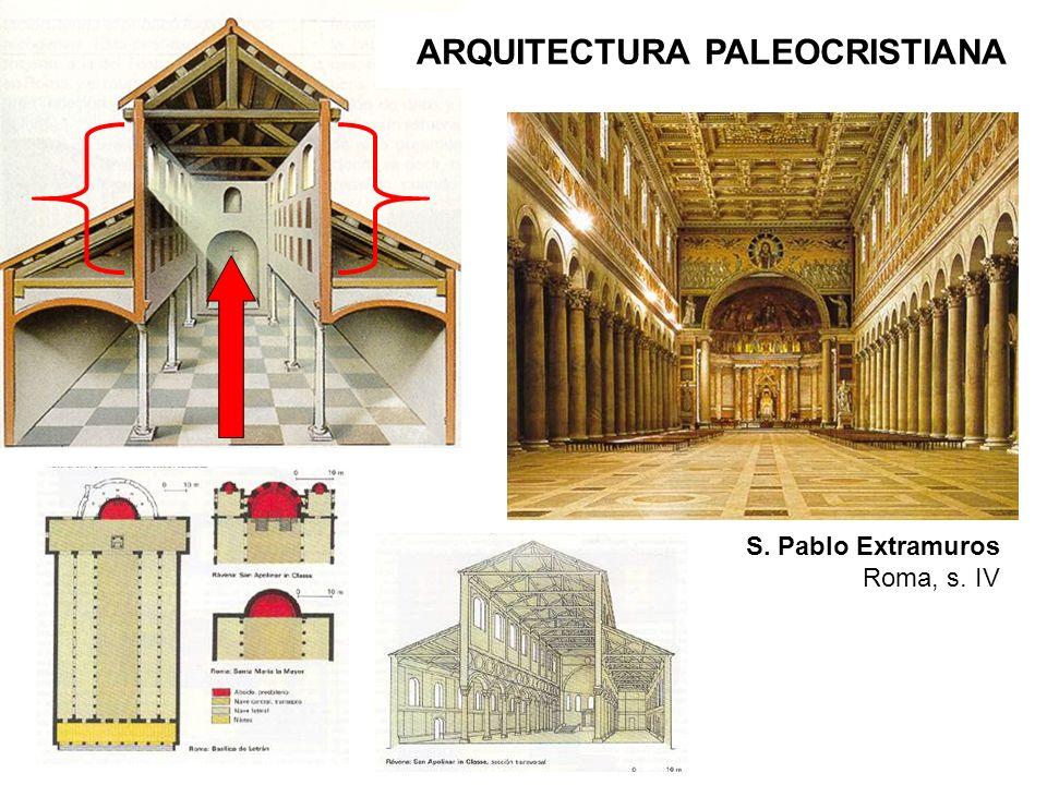 S. Pablo Extramuros Roma, s. IV ARQUITECTURA PALEOCRISTIANA