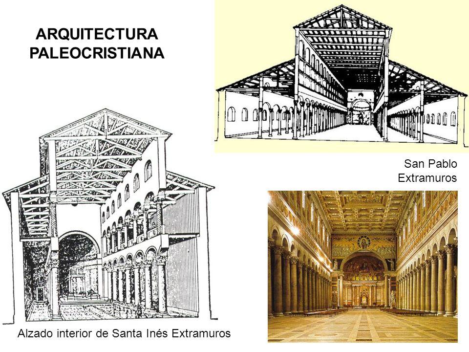 Alzado interior de Santa Inés Extramuros ARQUITECTURA PALEOCRISTIANA San Pablo Extramuros