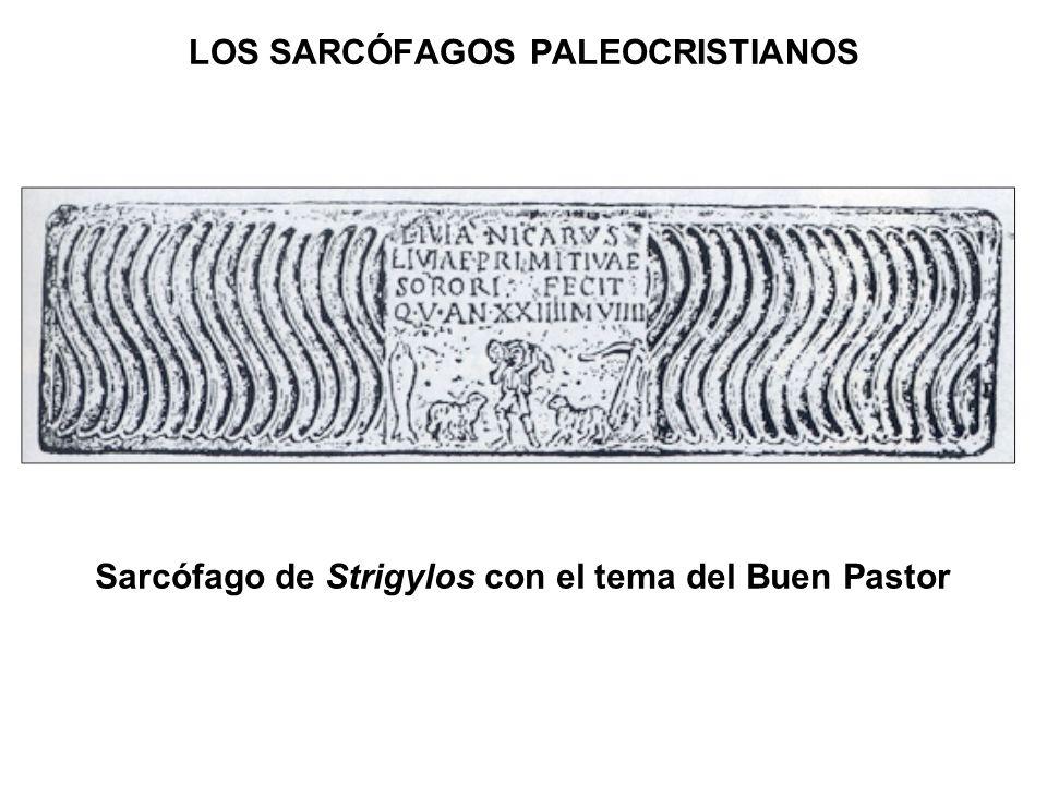 Sarcófago de Strigylos con el tema del Buen Pastor LOS SARCÓFAGOS PALEOCRISTIANOS