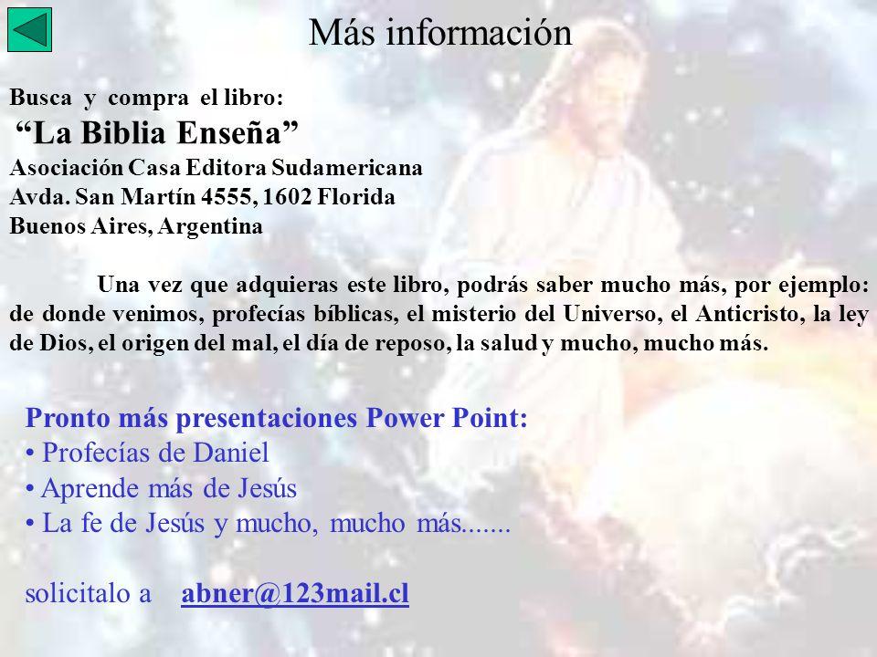 Más información Busca y compra el libro: La Biblia Enseña Asociación Casa Editora Sudamericana Avda. San Martín 4555, 1602 Florida Buenos Aires, Argen