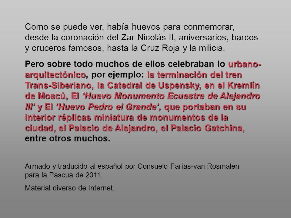 Armado y traducido al español por Consuelo Farías-van Rosmalen para la Pascua de 2011. Material diverso de Internet. Como se puede ver, había huevos p