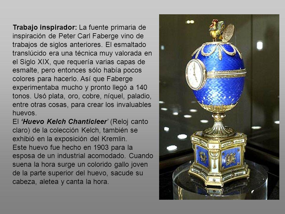 Trabajo inspirador: La fuente primaria de inspiración de Peter Carl Faberge vino de trabajos de siglos anteriores. El esmaltado translúcido era una té