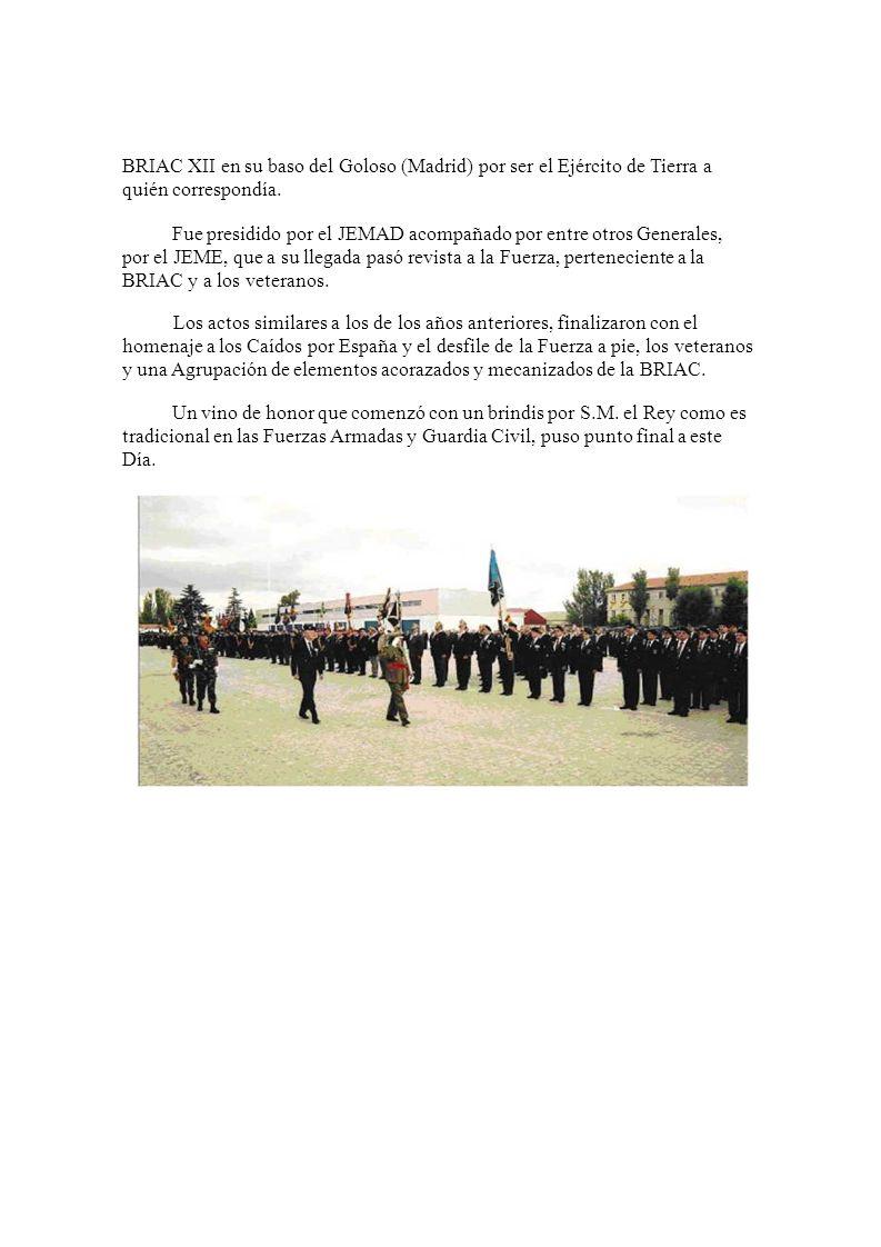IX DÍA DEL VETERANOS DE LAS FAS El día 29 de Septiembre de 2007 y organizado por el Ministerio de Defensa, se celebró este día en las instalaciones de