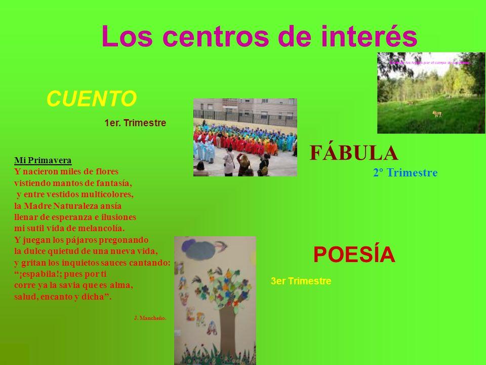 Los centros de interés POESÍA 3er Trimestre CUENTO 1er.