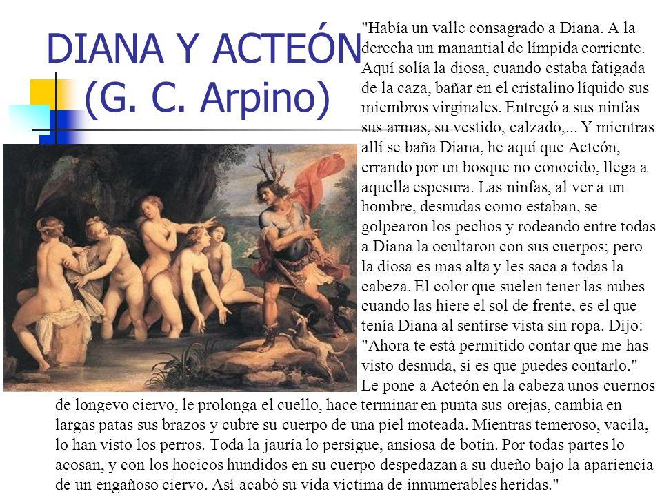 DIANA Y ACTEÓN (G. C. Arpino)