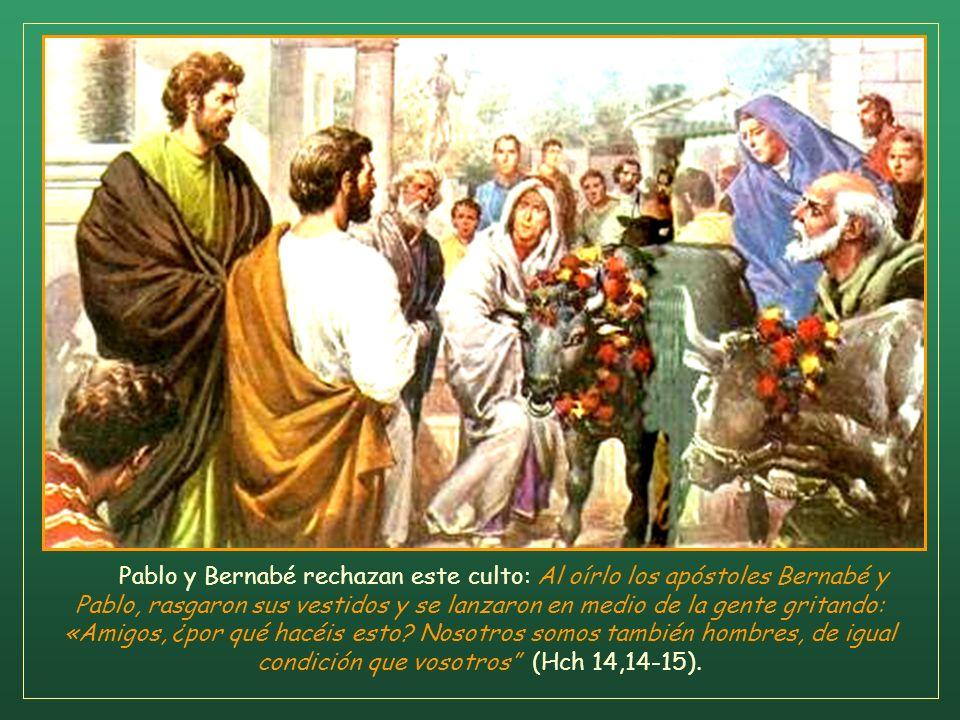 Huyeron a las ciudades de Licaonia, a Listra y Derbe y sus alrededores. Y allí se pusieron a anunciar la Buena Nueva. Había allí, sentado, un hombre t