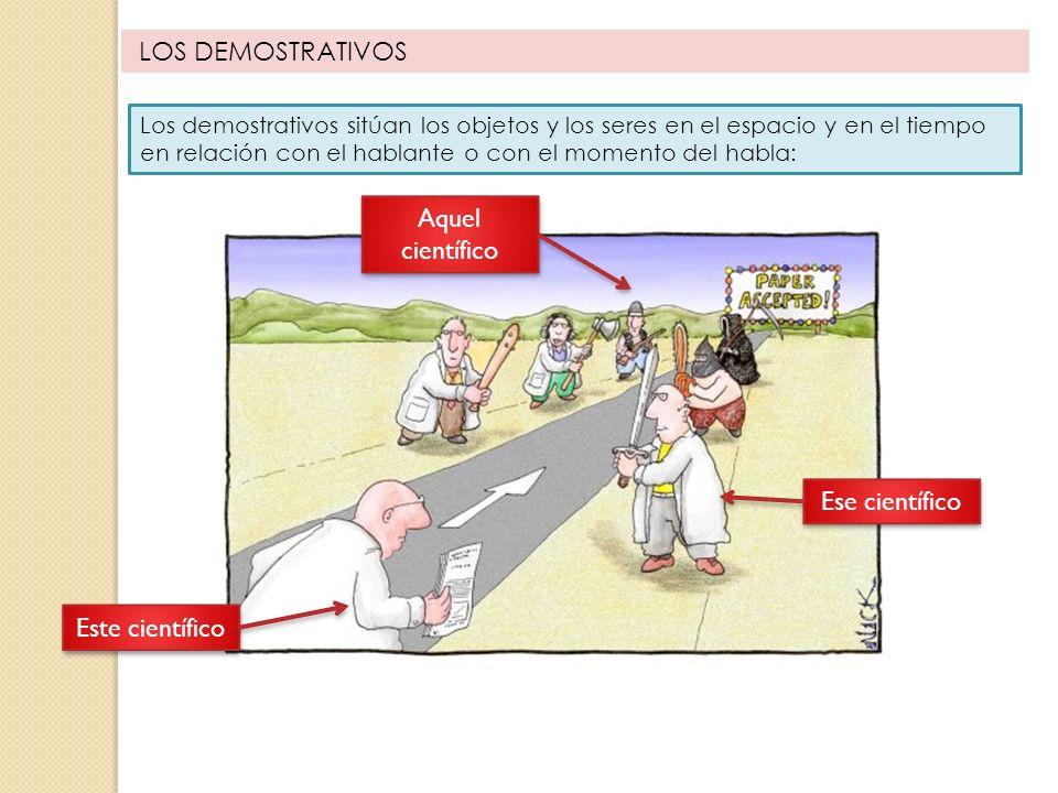 FORMAS DE LOS DEMOSTRATIVOS