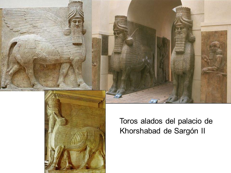 Toros alados del palacio de Khorshabad de Sargón II