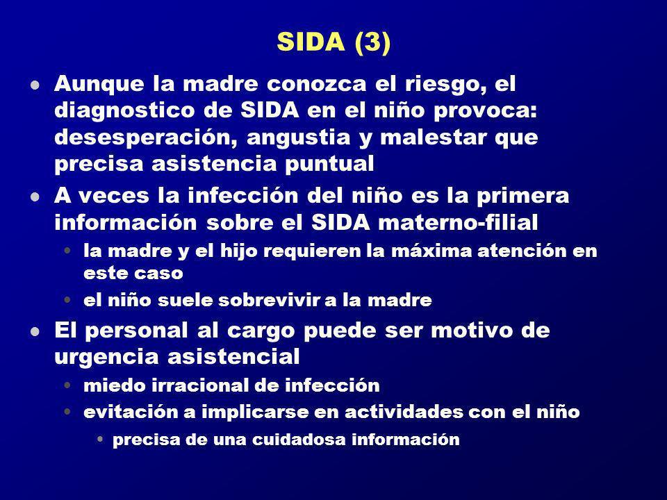 SIDA (3) l Aunque la madre conozca el riesgo, el diagnostico de SIDA en el niño provoca: desesperación, angustia y malestar que precisa asistencia pun