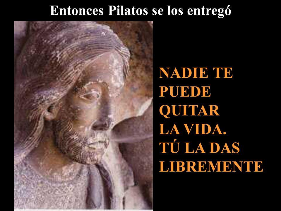 Pilatos se sentó en el Tribunal, en el lugar llamado Litóstrotos Aquí los soldados te torturaron. Tú das fuerza a los demás que van a seguirte a lo la