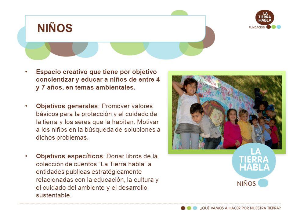 Espacio creativo que tiene por objetivo concientizar y educar a niños de entre 4 y 7 años, en temas ambientales.