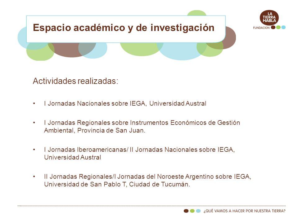 Se proyecta: Publicación de tres libros más: –Amigos del Jaguareté, –Humedales, –Agua.