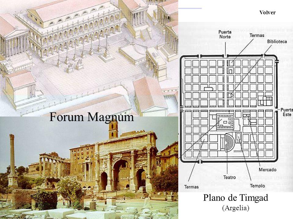 El Arte Romano Volver Forum Magnum Plano de Timgad (Argelia)