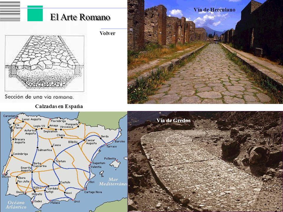 El Arte Romano Volver Vía de Herculano Calzadas en España Vía de Gredos