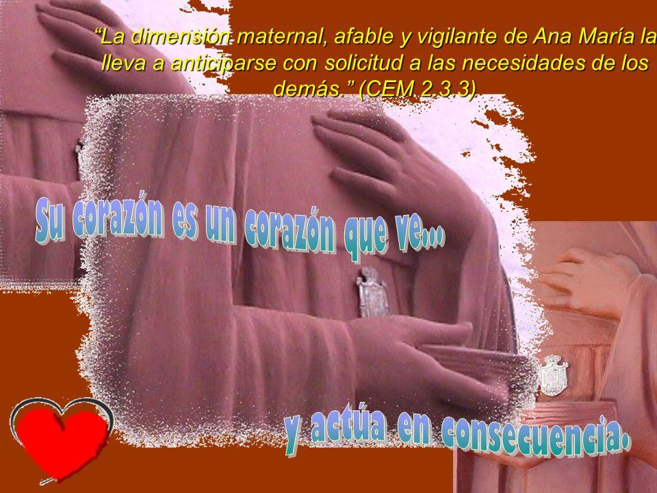 Es notoria en Ana María Janer, su capacidad para salir de sí misma e ir al encuentro del prójimo necesitado.